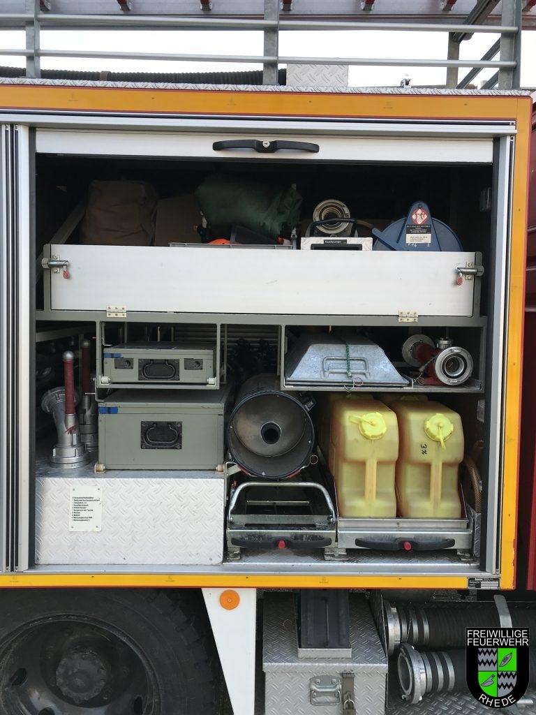 Geräteraum 2 u. a. mit Material zur Schaumherstellung