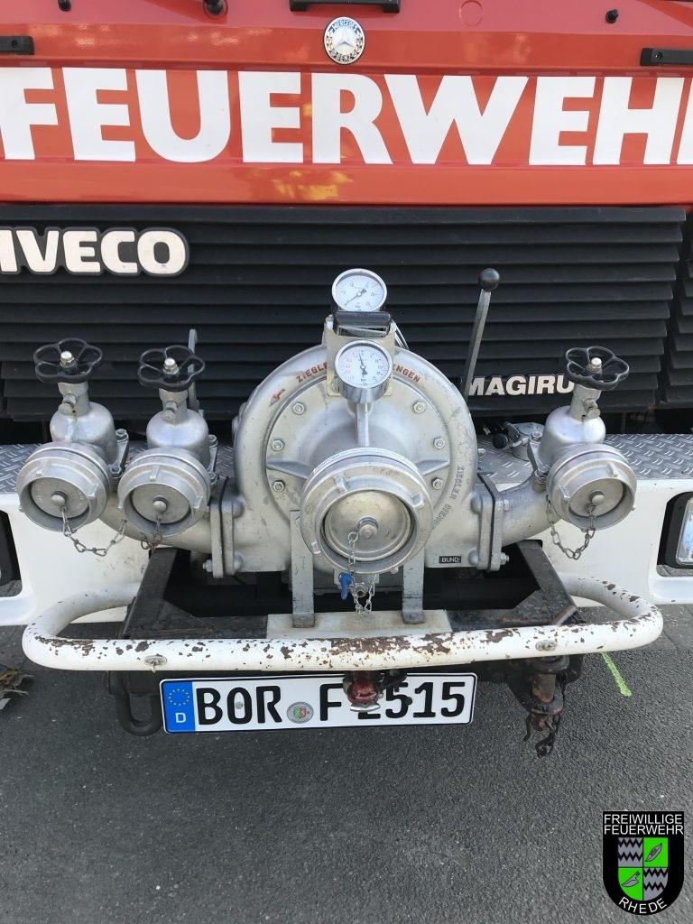 Frontpumpe mit einer Leistung von 1600 Litern pro Minute