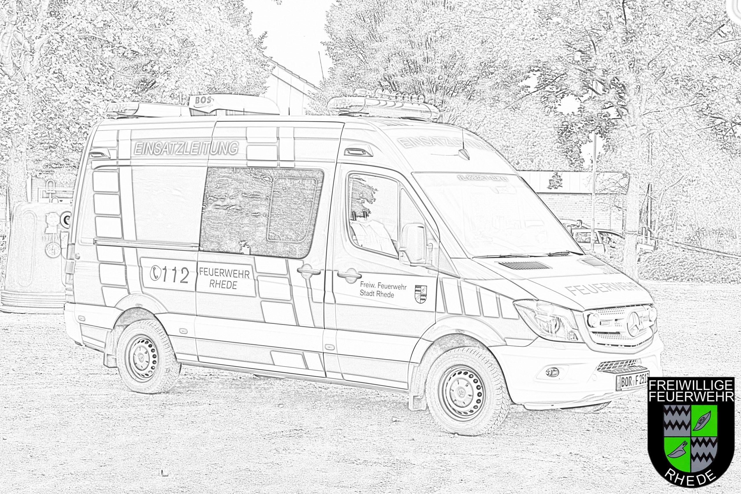 Ausmalbilder und Bastelvorlagen  Feuerwehr Rhede