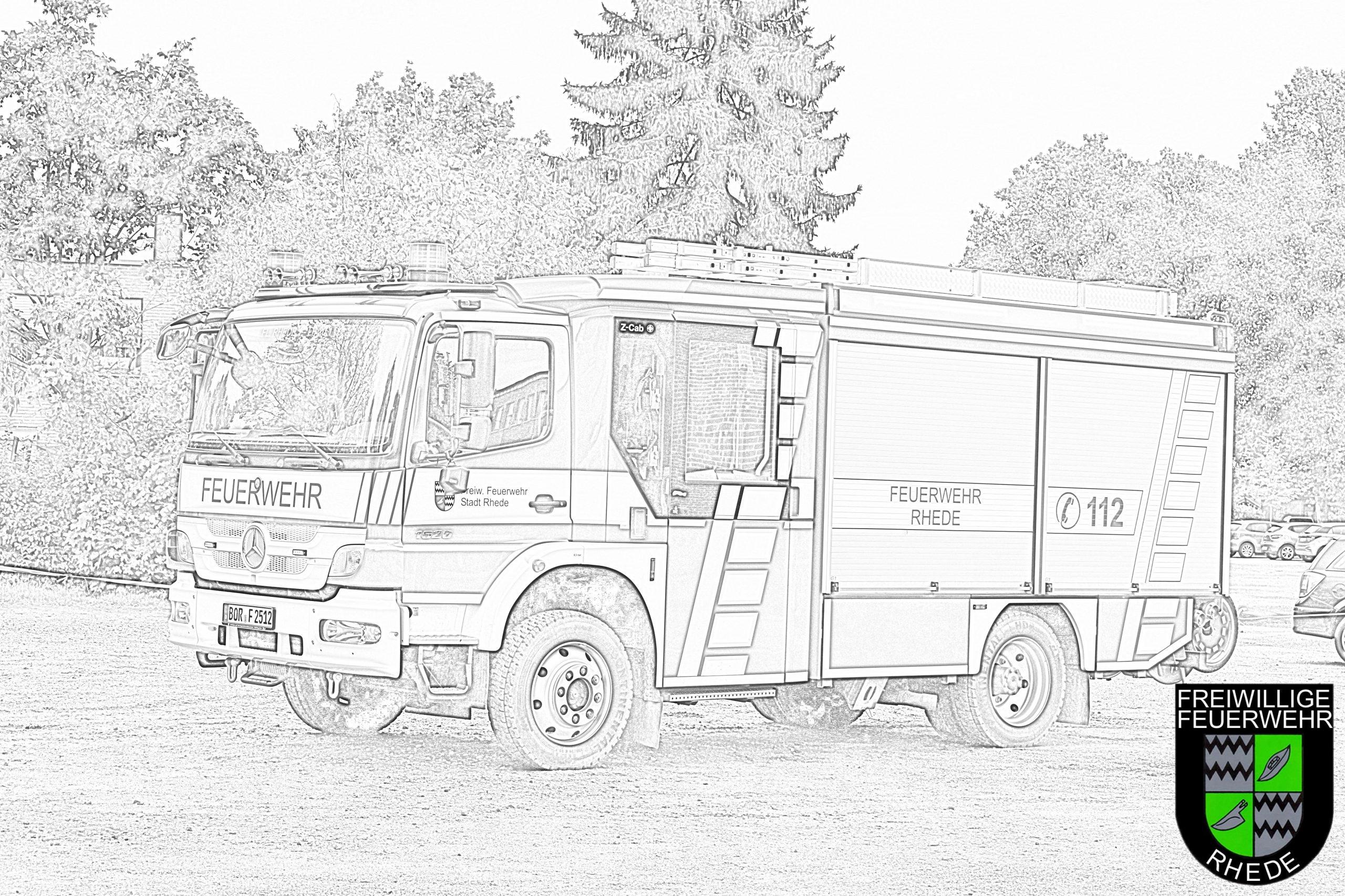 Ausmalbilder Und Bastelvorlagen | Feuerwehr Rhede